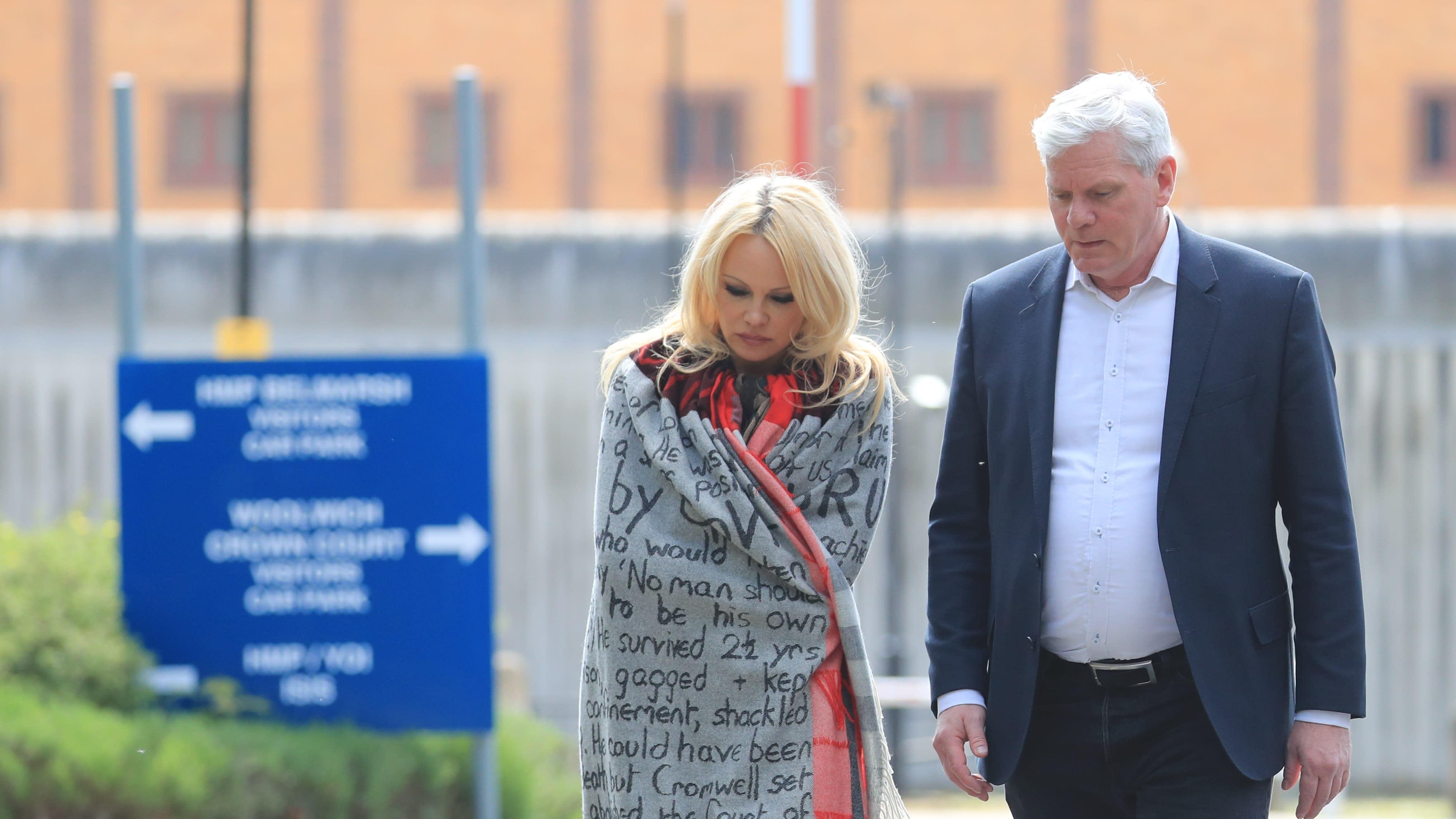 Pamela Anderson cancels prison visit to Julian Assange