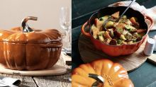 You Can Save $100 On The Popular Staub Pumpkin Pots Right Now At Bed Bath & Beyond