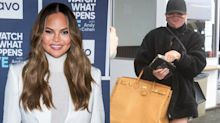 Chrissy Teigen's casual look includes this $178 coat from a celebrity-favourite brand