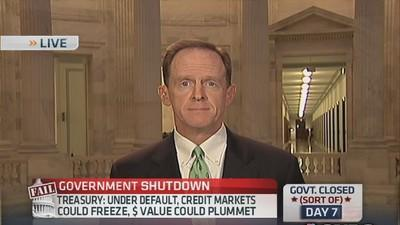 Market knows we won't have default: Sen. Toomey