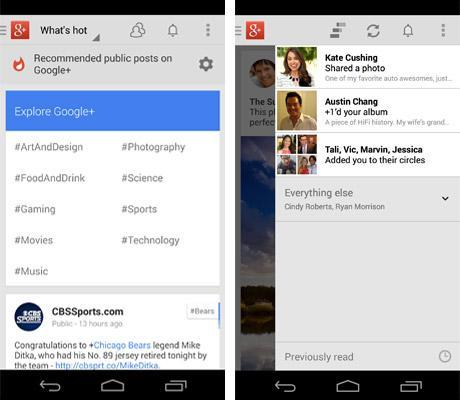 Google+ for Android update brings search and notification improvements, holiday cheer