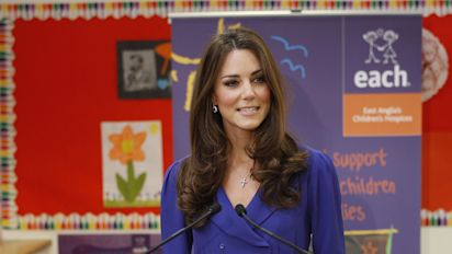 When was Kate Middleton's first public speech as a member of the royal family?