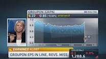 Groupon reports revenue miss