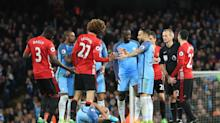 Manchester United hothead Marouane Fellaini sees red in fiery derby draw with Manchester City