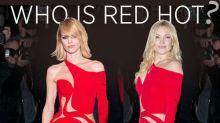 Eva Herzigova & Kate Hudson Face Off in Near-Naked Versace Gown