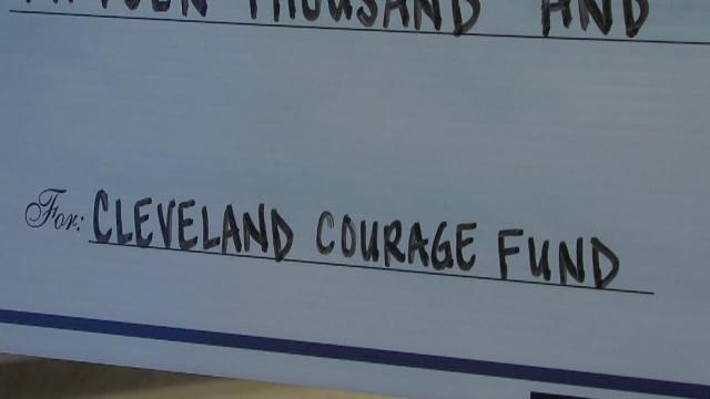 5pm: WEWS donates to Cleveland Courage Fund