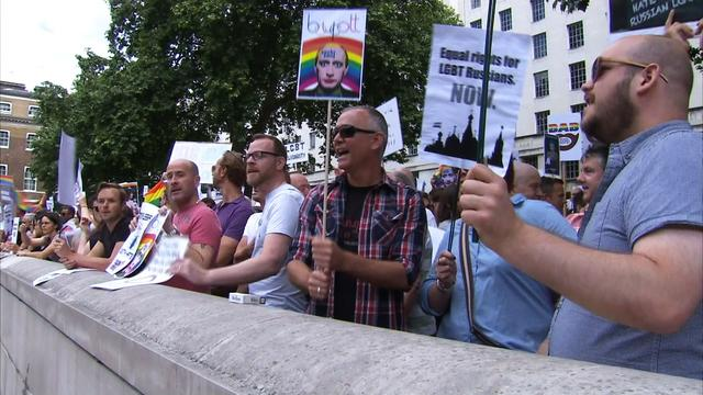 London pro-gay rally sending a message to Russia