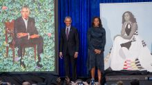 Barack Obama still has the hots for Michelle — and his reaction to her official portrait is proof