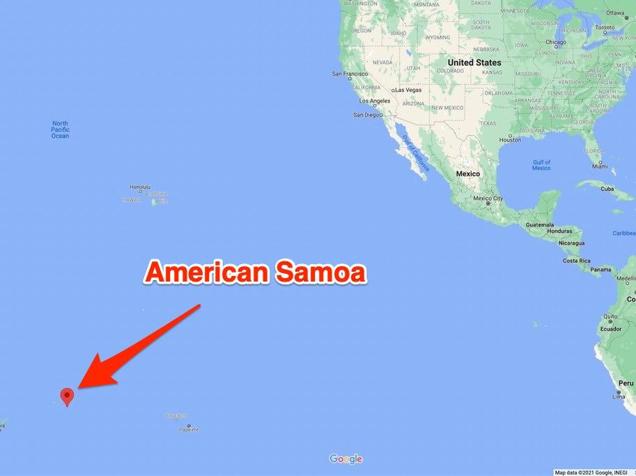 American Samoa, which had previously recorded zero COVID-19 cases throughout the entire pandemic, has recorded its first case