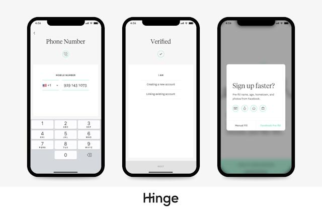 Dating app Hinge ditches the Facebook login requirement