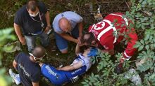 Evenepoel suffers 'multiple injuries' after bridge plunge on Tour of Lombardy