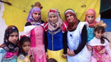 Syrian refugees get dressed up as Disney princess and share their dreams for the future