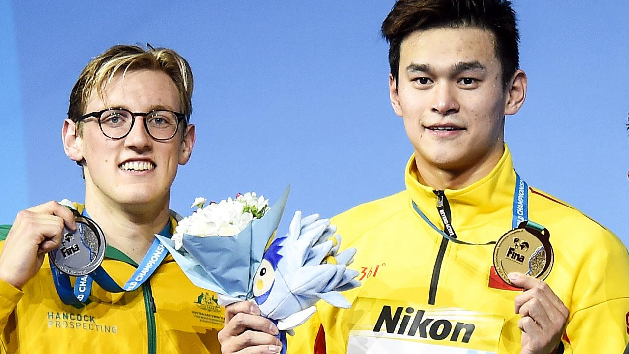 Mack Horton and Sun Yang 'separated' as ugly feud hits world titles