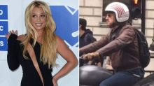 Who is Britney's mysterious London biker 'crush'?
