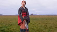 Scottish-Japanese artist celebrates her heritage by making a tartan kimono
