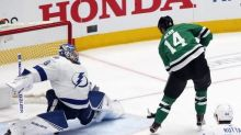Perry gives Stars 1-0 lead after 1 in Game 5