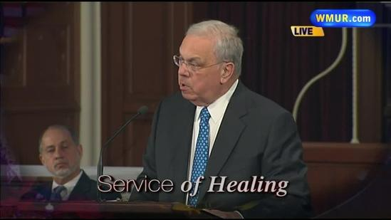 Raw Video: Mayor Menino speaking at Service of Healing
