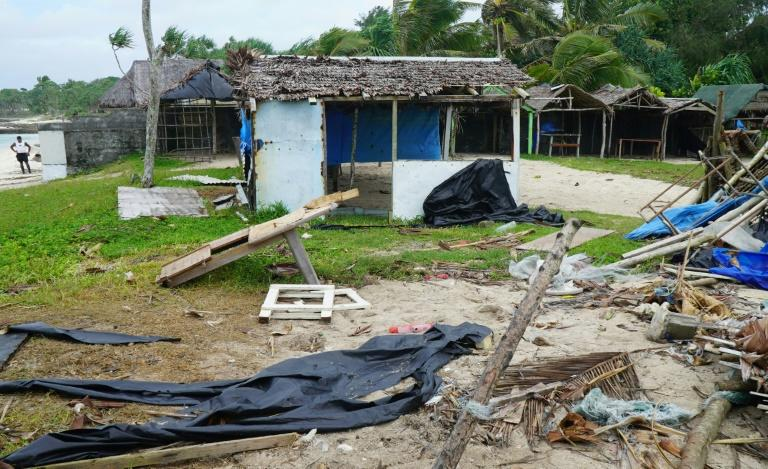 Damage caused by Harold near Vanuatu's capital Port Vila is shown on April 7. The storm is now moving towards Fiji (AFP Photo/PHILIPPE CARILLO)