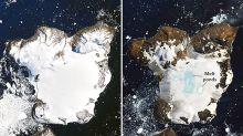 Alarming satellite images of Antarctica reveal extreme melting event