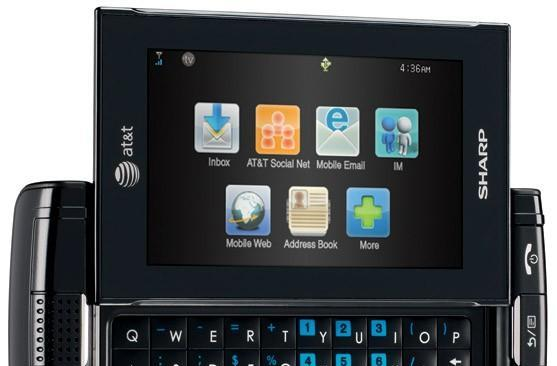 Sharp keeps going with the Sidekick look, intros FX for AT&T