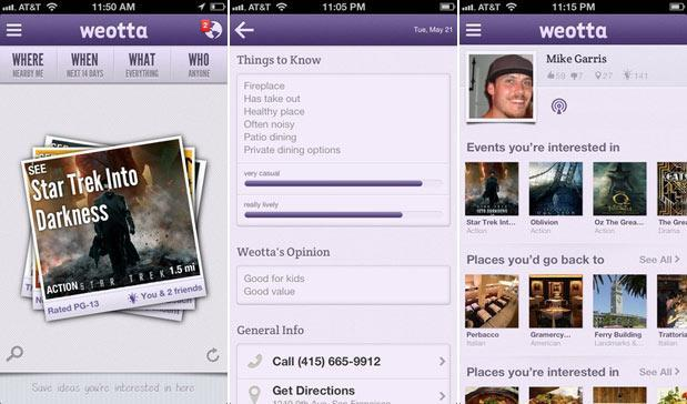 Weotta iOS local discovery app goes nationwide, Google Ventures approves