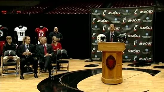 Raw Video: UC announces Tuberville as new coach