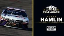 Denny Hamlin wins Busch Pole Award for playoff race at Talladega