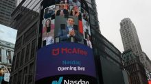 McAfee Corp shares fall 7% in Nasdaq debut