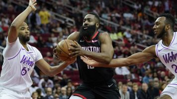 Nothing free: Unusual night for Harden at home