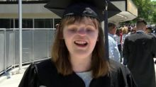 Woman born without eyes or nose graduates college: 'I don't need easy, I just need possible.'