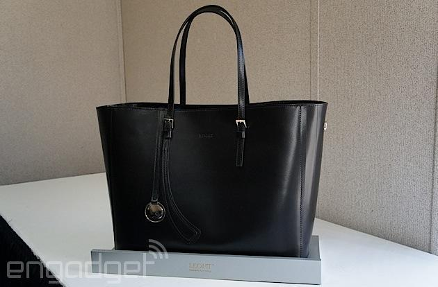 Leoht's tech handbag will charge your gadgets and help you find them
