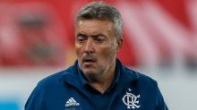 """Ameaçado? Domènec diz 'não saber' se corre risco de ser demitido no Flamengo: """"Estou concentrado em trabalhar"""""""