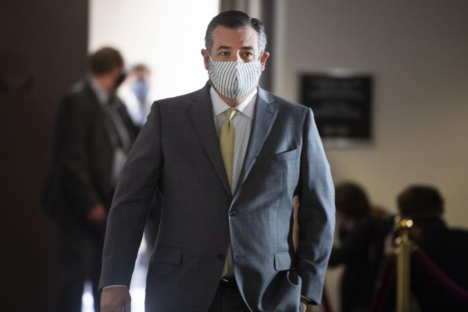 UNITED STATES - MAY 12: Sen. Ted Cruz, R-Texas, leaves the Senate Republican Policy luncheon in Hart Building on Tuesday, May 12, 2020. (Photo By Tom Williams/CQ-Roll Call, Inc via Getty Images)