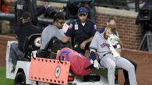 Astros' Colin Moran carted off after taking foul ball to the face