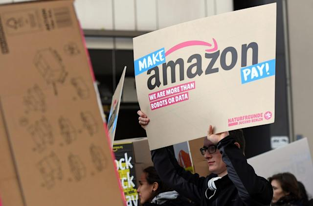 Amazon's warehouse workers strike in Germany and Italy