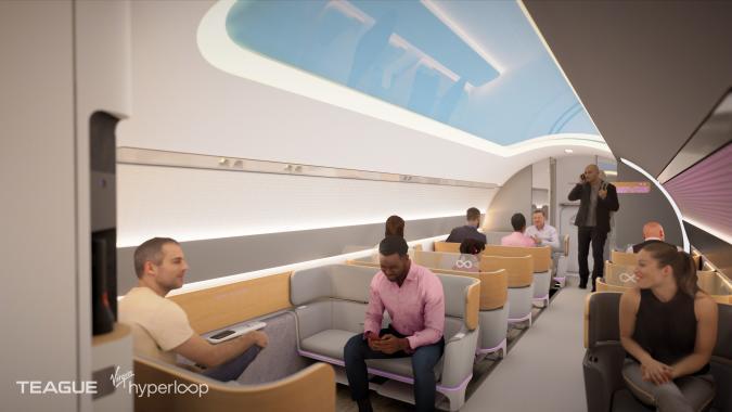 Image from a Virgin Hyperloop concept video