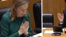 """""""Como no soy grupo mixto..."""": el tenso momento entre Ana Pastor y Patxi López en la Comisión de Reconstrucción"""