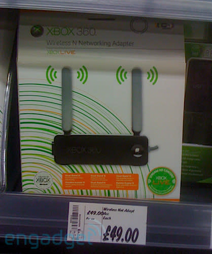 Elusive Xbox 360 802.11n wireless adapter appears in the UK
