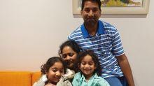 Family united as Tharnicaa leaves hospital