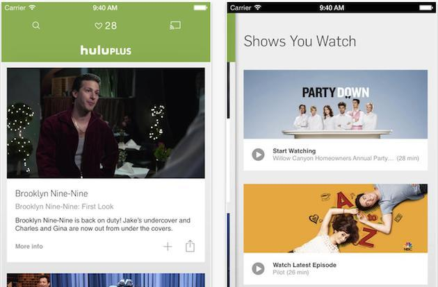 Hulu Plus on iOS looks a lot flatter and cleaner now