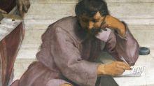 """Qué significa el tintero de Heráclito, el detalle poco conocido de """"La Escuela de Atenas"""", la famosa pintura de Rafael"""