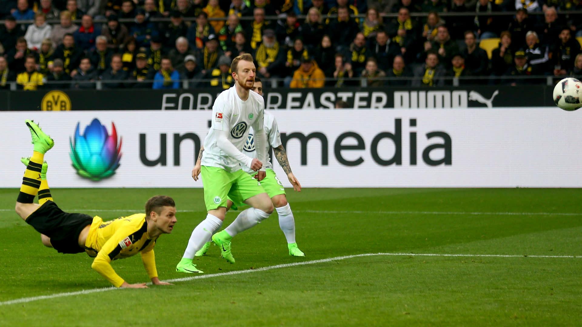 Borussia Dortmund 3 Wolfsburg 0 Piszczek Stars With Yellow Wall Absent
