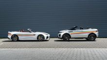 Jaguar F-Type SVR and Range Rover Evoque Convertibles go rainbow for Pride
