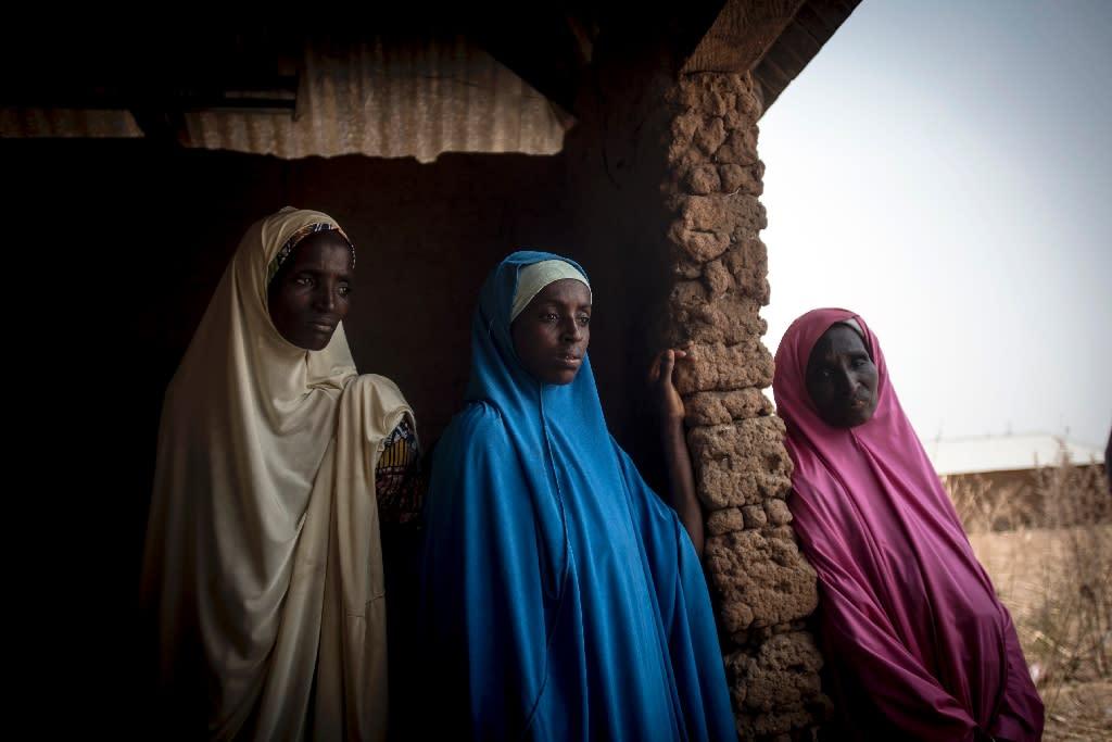 Fulanis fled their homes after the February 11 attack (AFP Photo/CRISTINA ALDEHUELA)