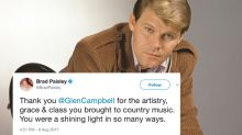 Tributes For Glen Campbell Flood Social Media After News Of His Death