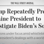 Trump repeatedly pressured Ukraine president in Biden probe: Report