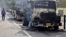 Protesters set fire to train stations in India over citizenship law