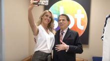 Após foto com Bolsonaro, Ana Hickmann encontra Silvio Santos: 'Quase desmaiei'