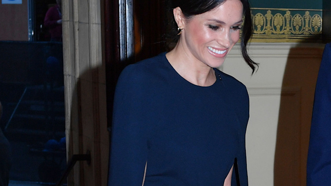 Meghan Markle steals the show in $2,300 cape dress