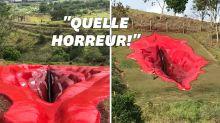 La sculpture d'une vulve géante a créé la polémique au Brésil